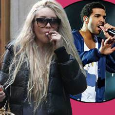 Amanda Bynes and Drake (inset)