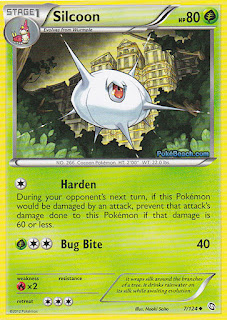 Silcoon Dragons Exalted Pokemon Card