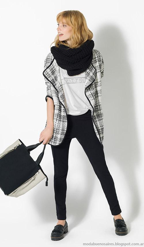 Sacos a cuadros, abrigos de moda invierno 2015 Yagmour.