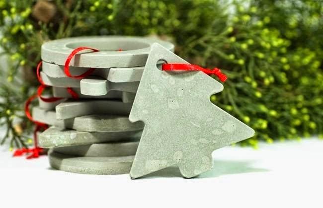 Décorations de Noël avec du Ciment Recyclé
