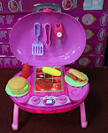 New Pink Barbecue Kitchen with Carry Case,RM75 only!!!