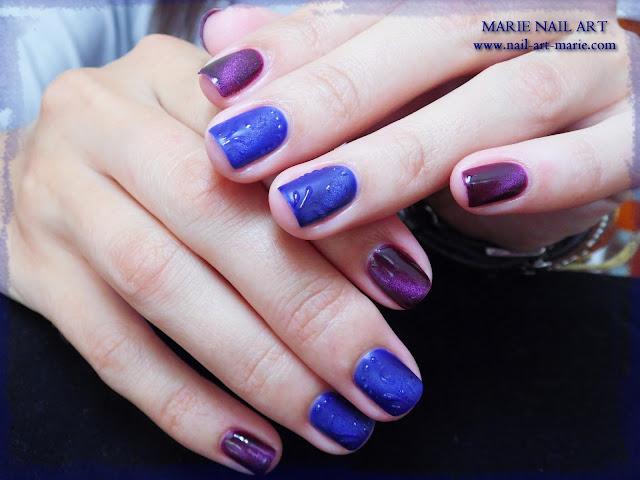 nail art avec semi-permanent effet oeil de chat5