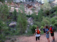 Observant l'espai de l'antiga mina de bauxita