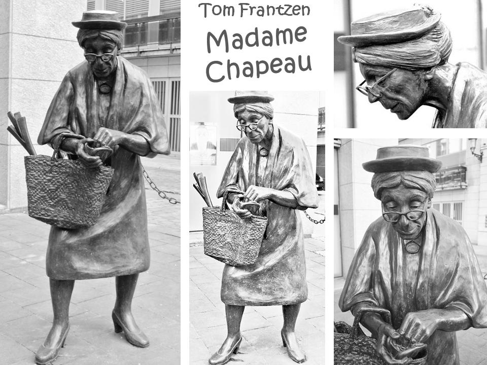 Madame Chapeau - Scupture de  rue de Tom Frantzen - Bruxelles-Bruxellons