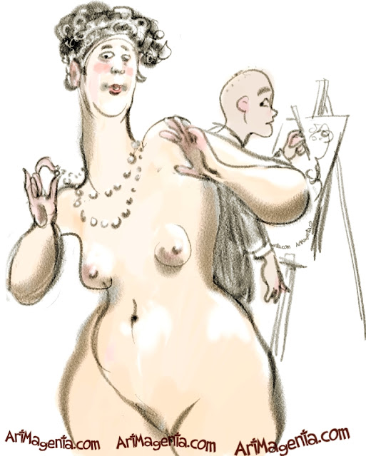 Life drawing dress code is a croquis caricature by Artmagenta