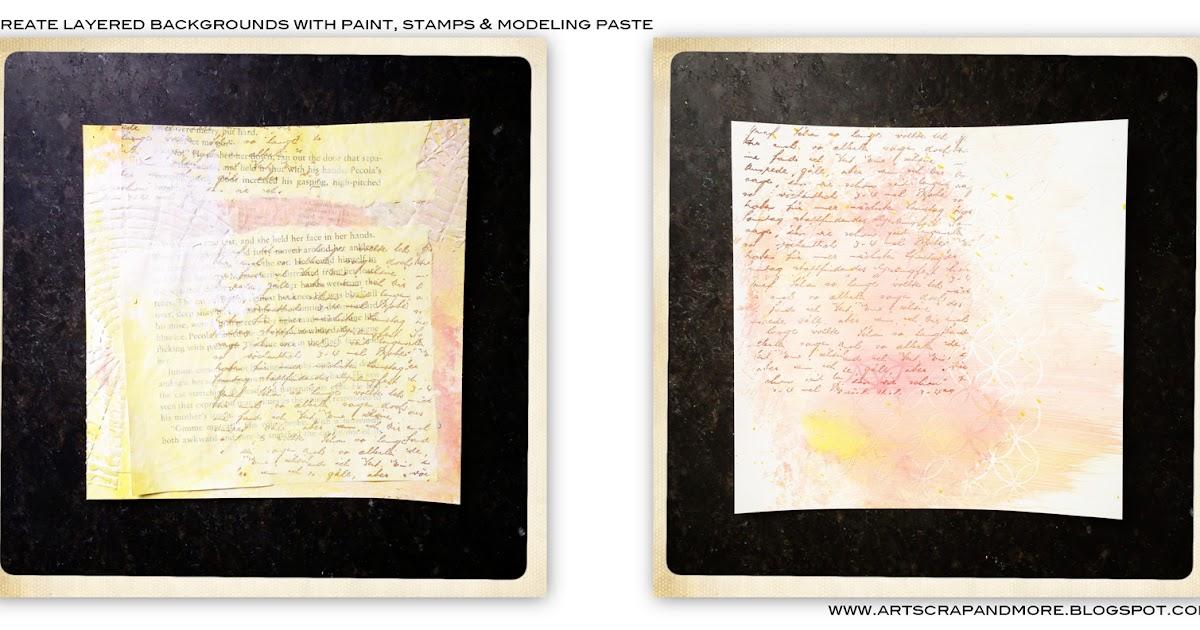 alexandra's Sunday scrapbooking - Layered backgrounds w. Penny Black Inc.
