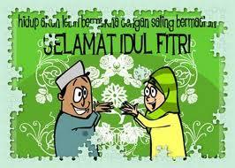 Gambar Ucapan Idul Fitri Lebaran Lucu - www.intermezoku.com