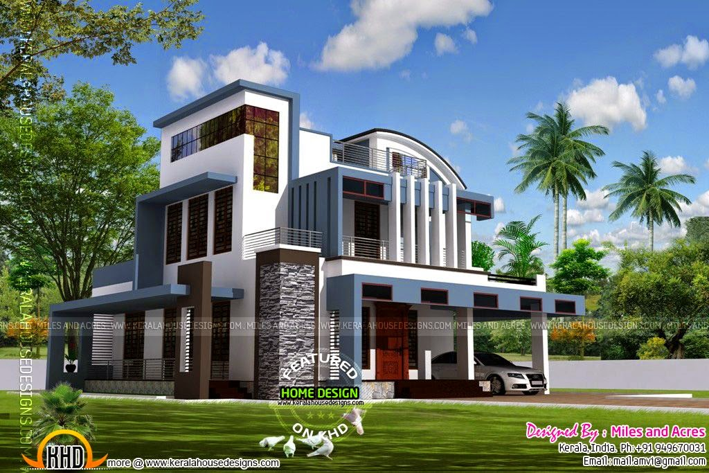 House plan of beautiful contemporary home | Kerala home design ... on construction side view, furniture side view, kitchen side view, countertops side view, house side view, drafting side view, log homes side view,
