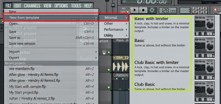 Cara embuat Project template di Fl studio 11