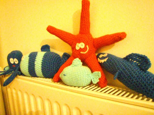 crochet sea wolld octopus fish starfish
