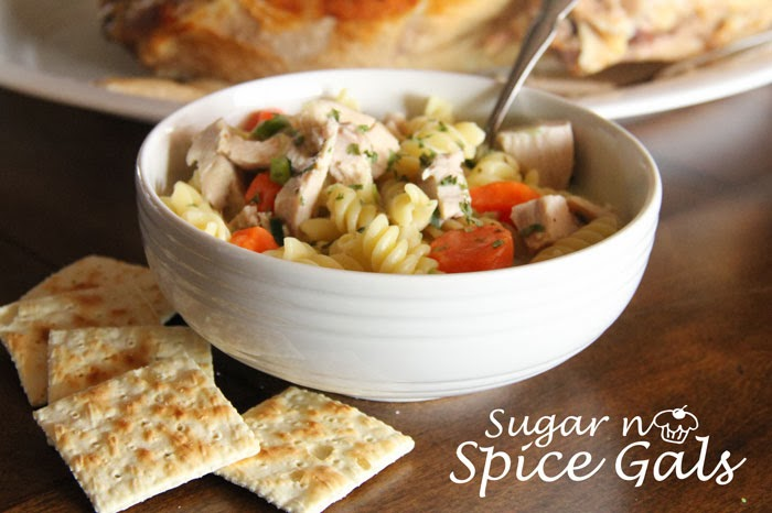 savory turkey noodle soup