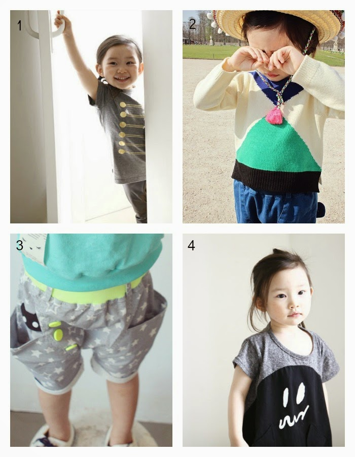 1) Mini Dressing  2) Annika  3) Lila  4) Mini Dressing - Jujubunnyshop spring 2014 kids fashion collection