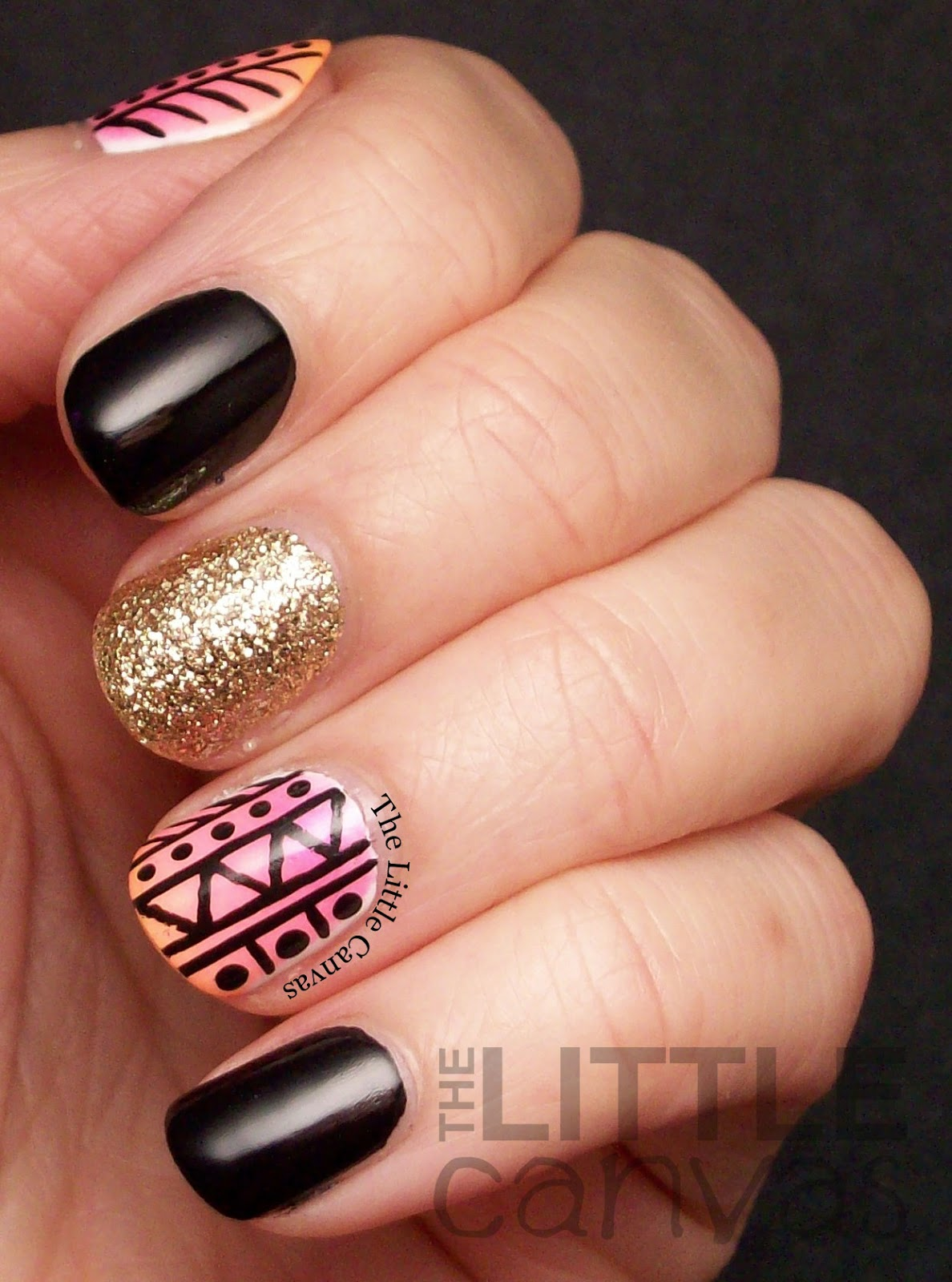 Tribal Accent Manicure