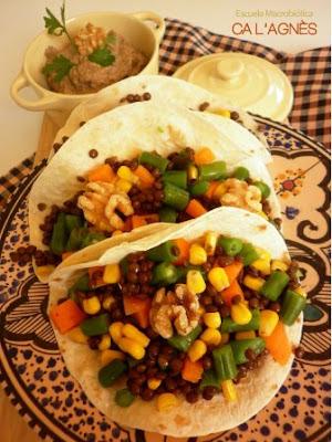 Cocina macrobi tica tacos veganos de lentejas du puy con for Cocina macrobiotica