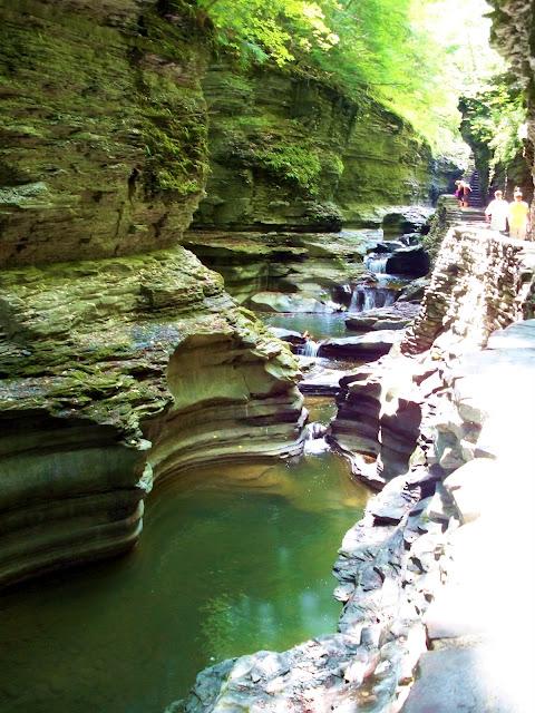 the stream through the gorge