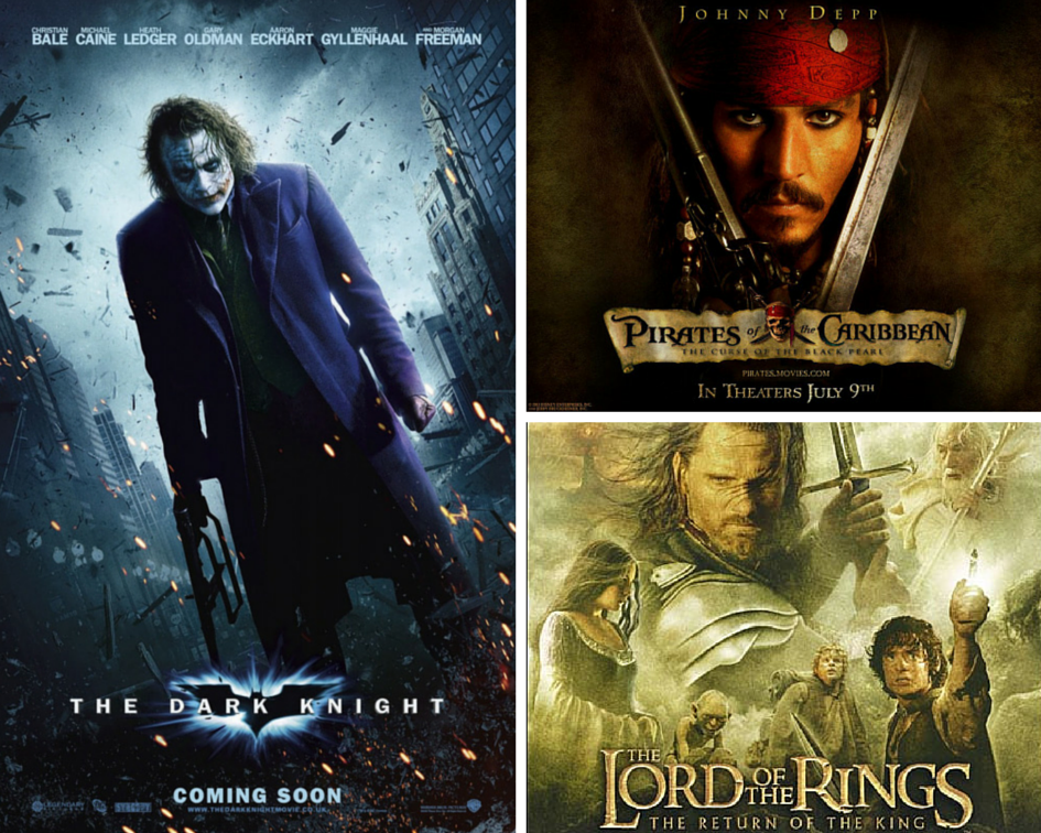 the dark knight heath ledger pirates of the caribbean the lord of the rings the return of the king LOTR Oscars Oscar