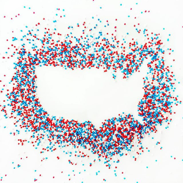 SO COOL! America in Sprinkles!