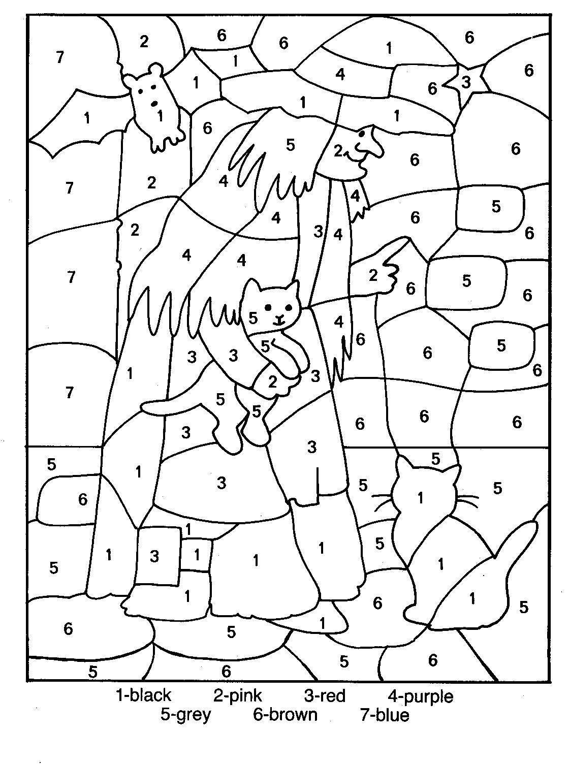 Numbers coloring pictures for kids