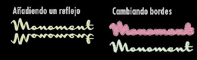 aprovechar tipografía monoment