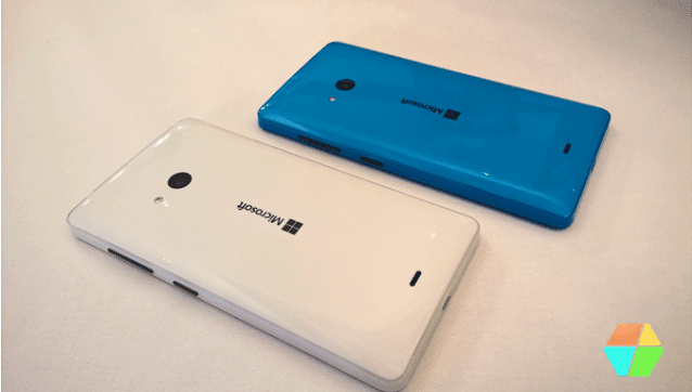 Lumia 540 in Cyan and White