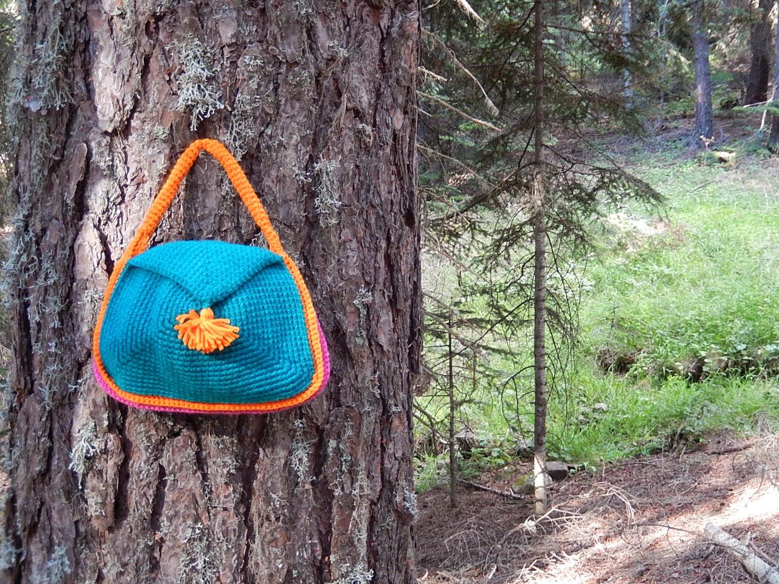 turuncu tığişi çanta çanta