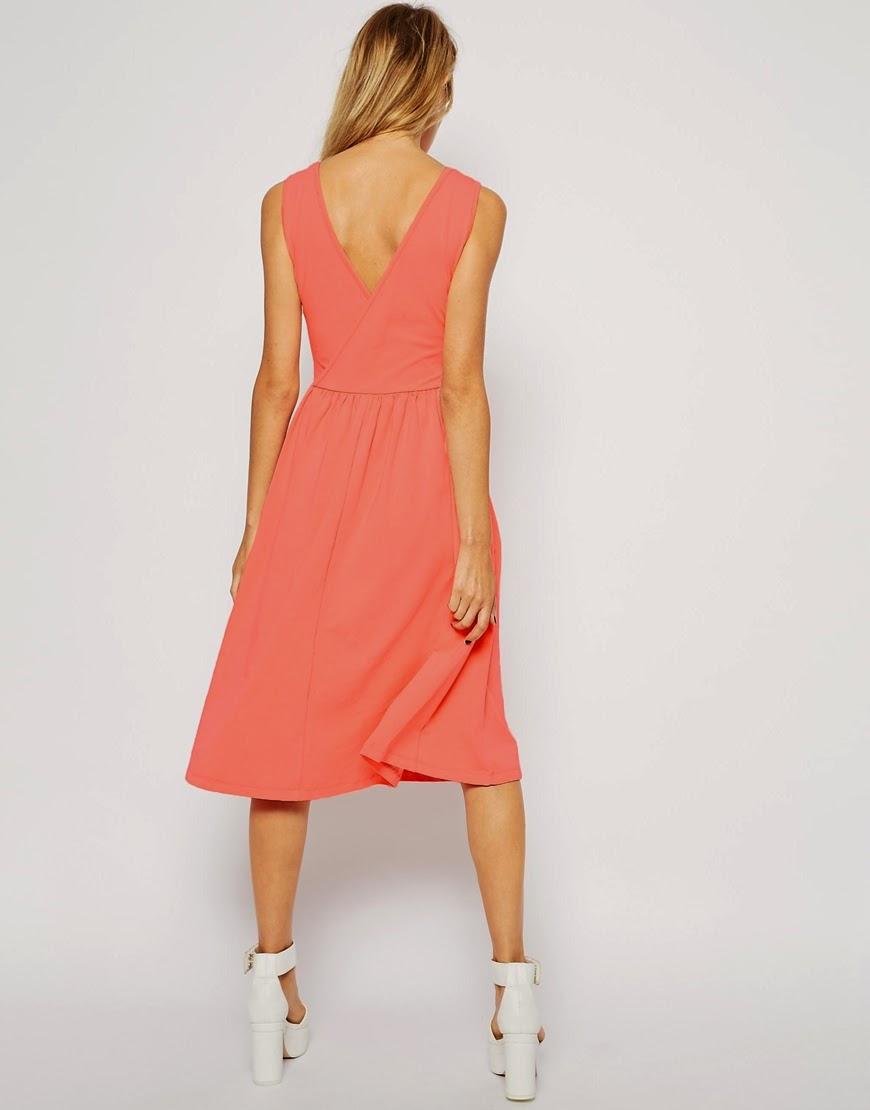 pink v back dress
