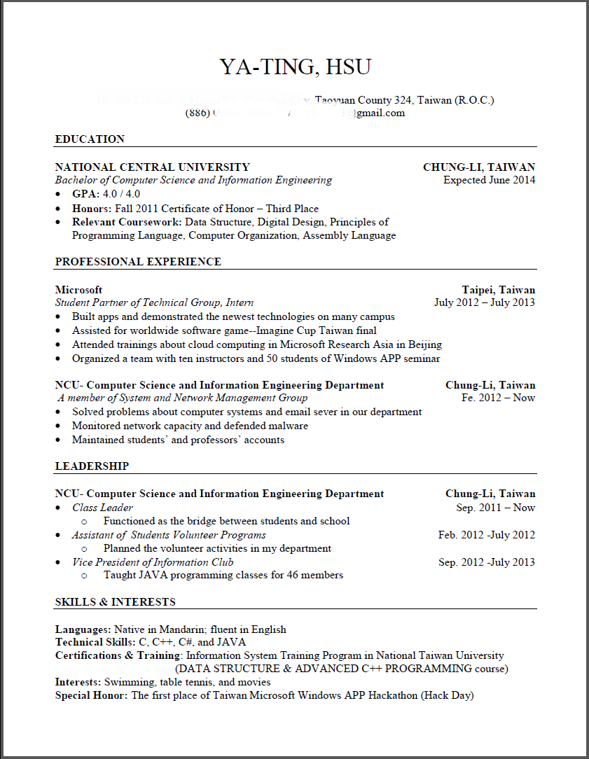 Yating Hsu : 交換學生 SUNY-Oswego 準備流程 Part2 (審查資料篇)