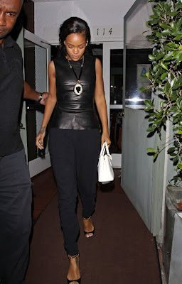 Tom Ford Leather Chain Sandals Rihanna