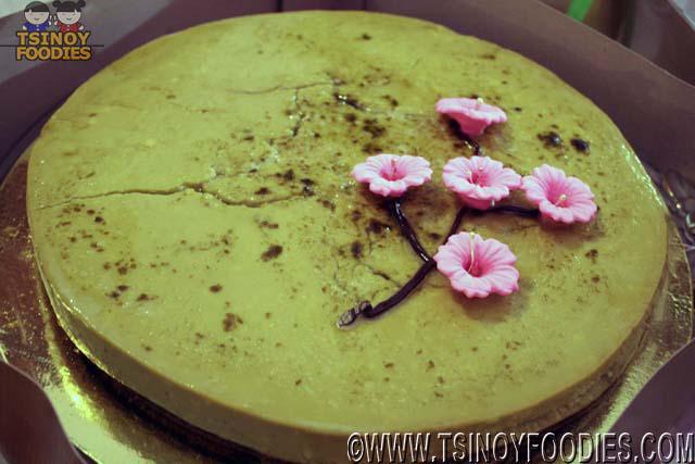 moshi moshi green tea cheesecake