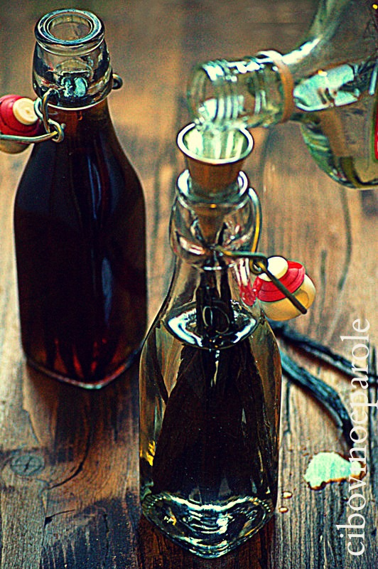 Vanilla extract with vodka