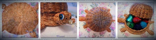 плетеная черепаха с разных ракурсов