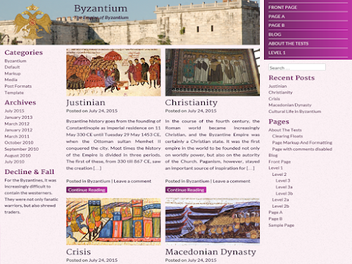 Download Tema WordPress Byzantium