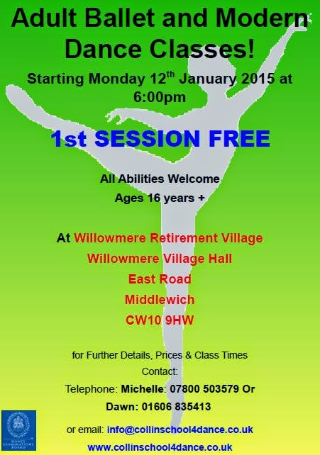 ADULT DANCE CLASSES AT WILLOWMERE 2015
