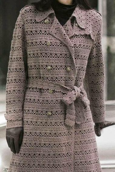 Abrigos crochet con patrones