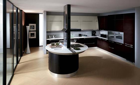 15 fotos de cocinas integrales modernas color chocolate for Cocinas integrales colores modernos