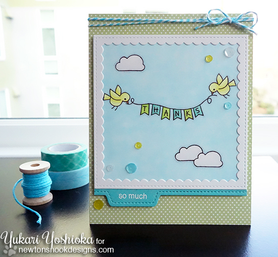 Thanks so much Bird card by Yukari Yoshioka | Winged Wishes stamp set by Newton's Nook Designs #newtonsnook