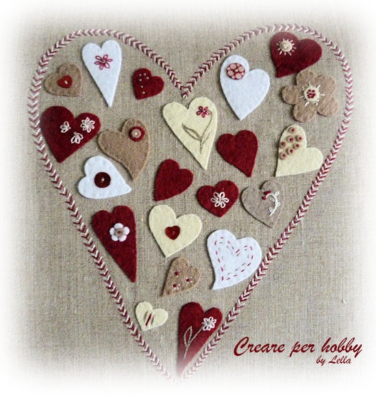 Creare per Hobby: Cucito Creativo: un cuore di cuori