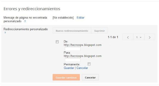 En Blogger ya contamos con redireccionamiento personalizado para redirigir las url de nuestro sitio que hayamos modificado o eliminado