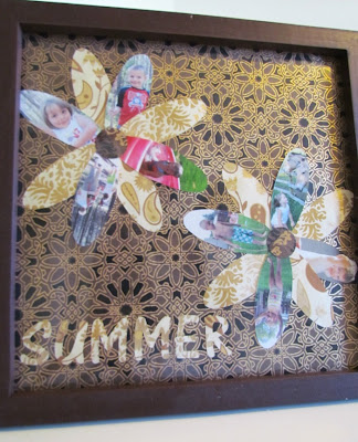 Easy Scrapbooking, Silhouette project, Photo layout, summer photo layout