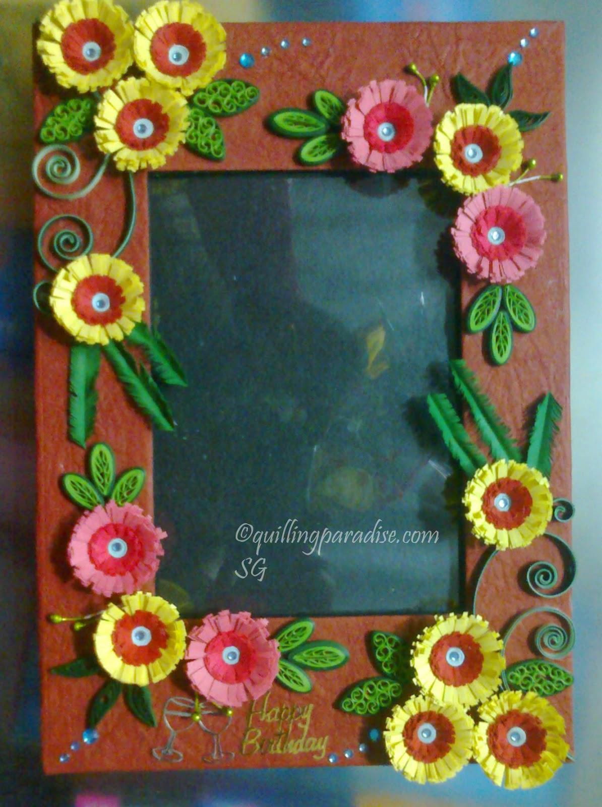Поделка из цветов в коробке
