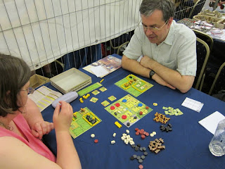 UK Games Expo - The demonstration copy of Agricola All Creatures Big & Small being played
