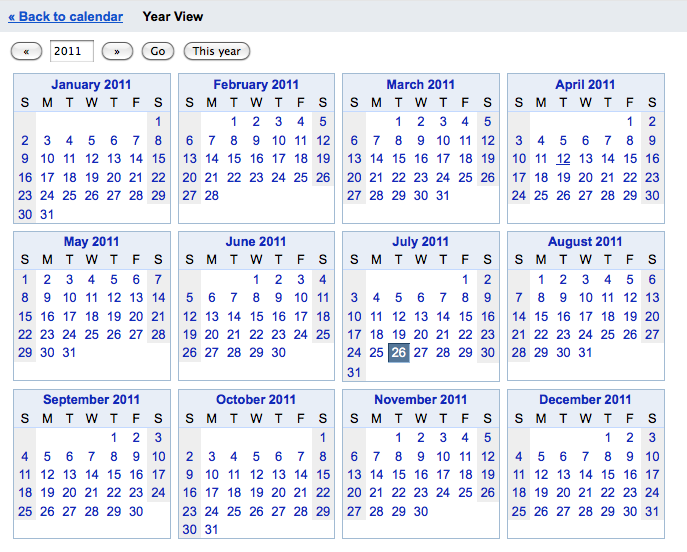 Google Calendar Year View : Google calendar year view