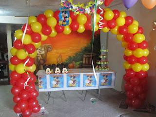 DECORACION MICKEY MOUSE 5 FIESTAS INFANTILES RECREACIONISTAS MEDELLIN