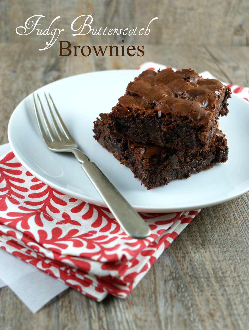 AUTHENTIC SUBURBAN GOURMET FUDGY BUTTERSCOTCH BROWNIES