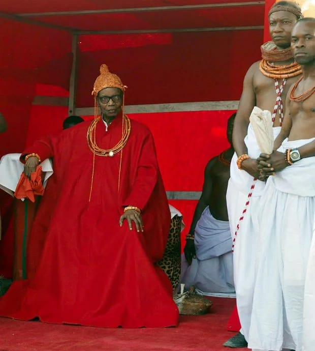 OBA OF BENIN, DEAD AT 93.