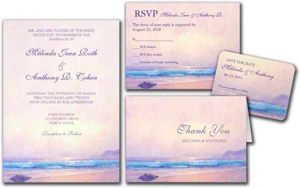 Summer Sea Wedding Invitation