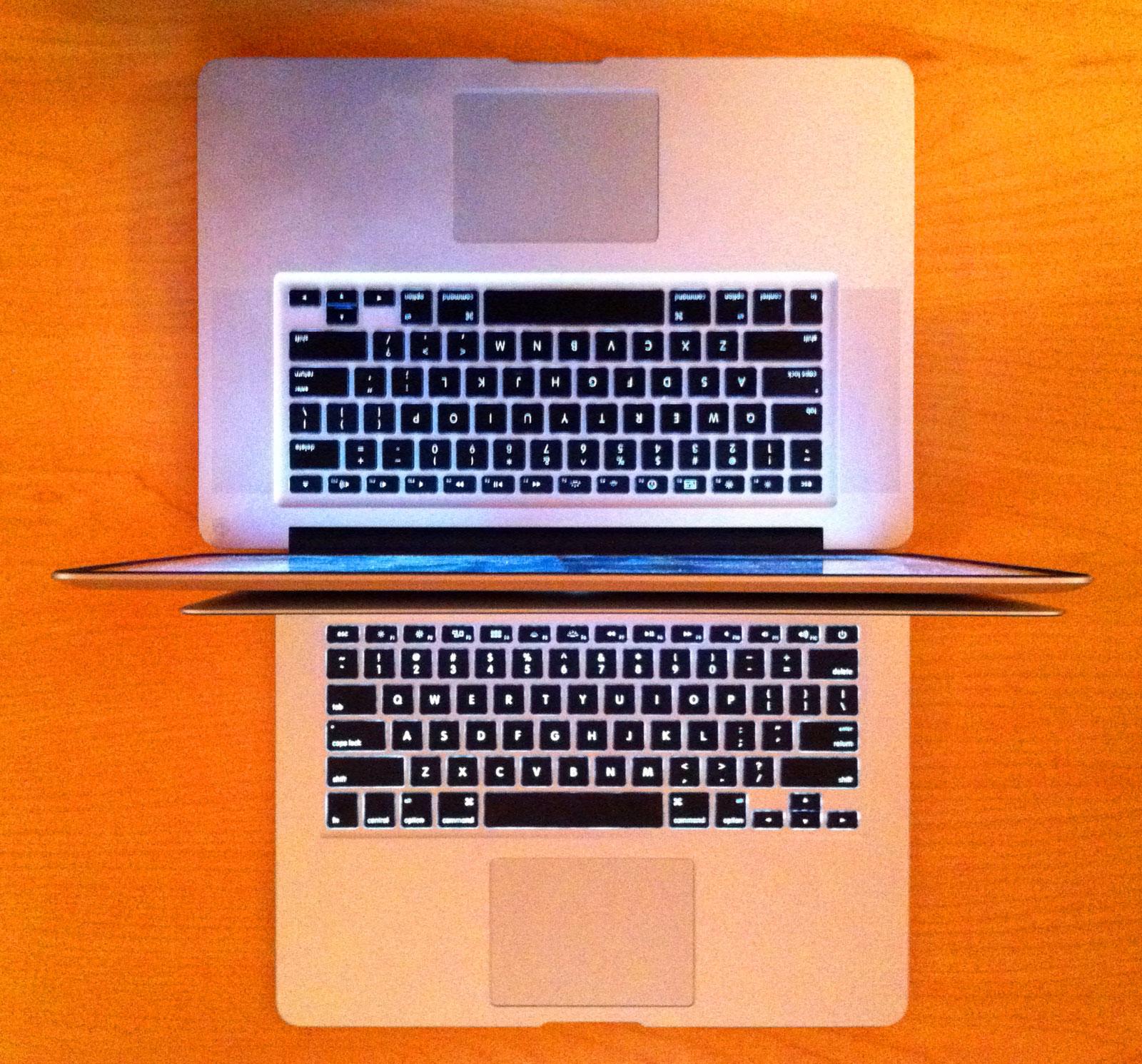 bullettrain bulletblog by jakee 13 inch macbook air v 15 inch macbook pro less is definitely more