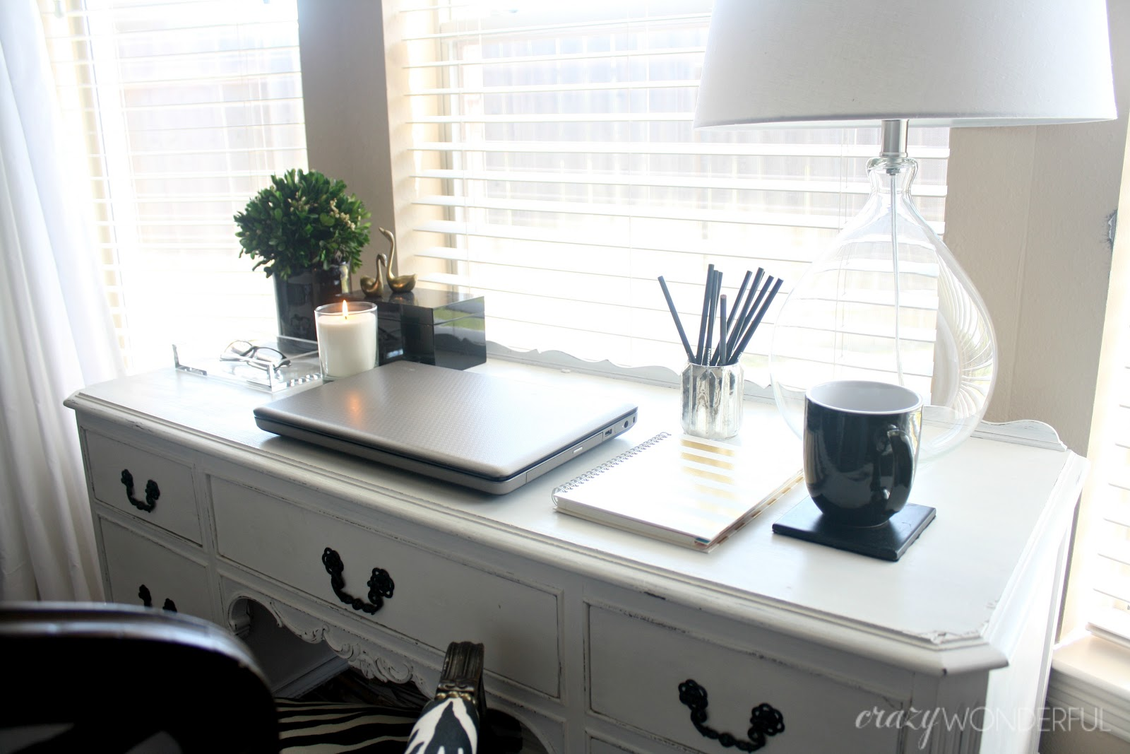Crazy Wonderful styled bedroom desk