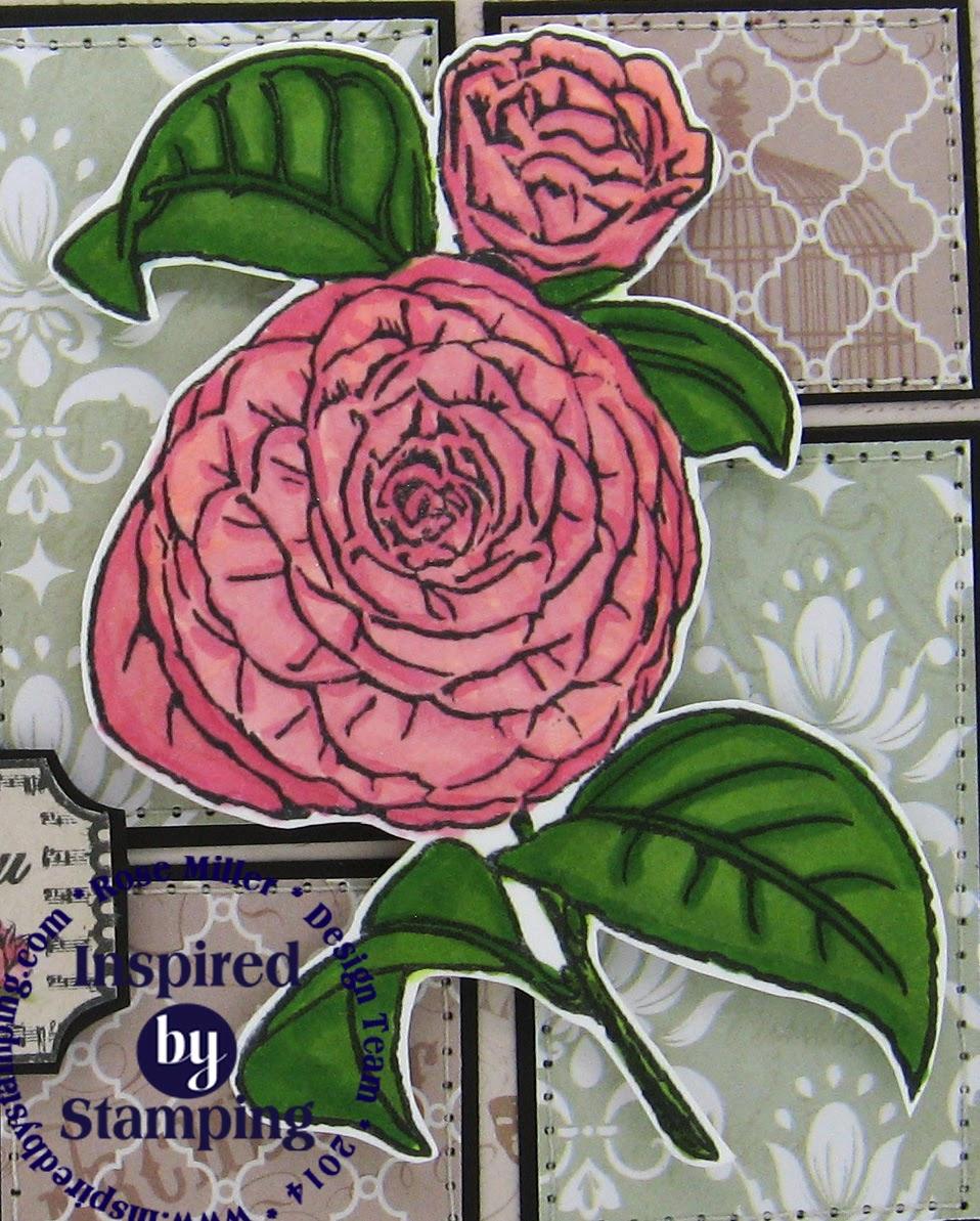 Inspired by Stamping, Rose Miller, thinking of you card, Vintage Roses stamp set, Vintage Tickets Stamp Set