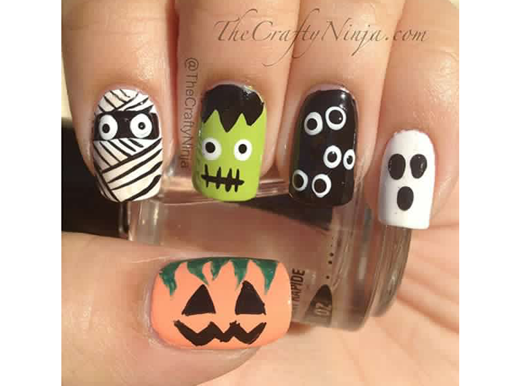 Nail Art Design Ideas For Halloween | Geeky Pinas